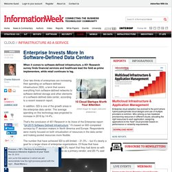 Enterprise Invests More In Software-Defined Data Centers