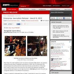 Enterprise Journalism Release - March 5, 2015 - ESPN MediaZone ESPN MediaZone