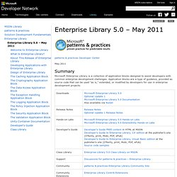 Enterprise Library 5.0