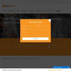 SAP Strategic Enterprise Management Users Email List