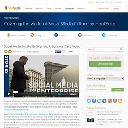 Social Media for The Enterprise: A Business Case by HootSuite