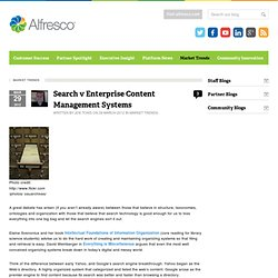 Search v Enterprise Content Management Systems