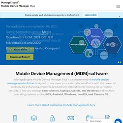 Enterprise Mobile Device Management Software