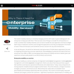 Why Is There A Need For Latest Enterprise Mobility Services?