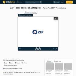 ZIF - Zero Incident Enterprise PowerPoint Presentation, free download - ID:10198394