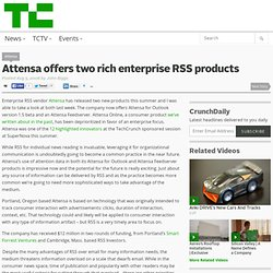 Attensa offers two rich enterprise RSS products