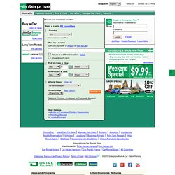 Enterprise Rent-A-Car - Rental Cars at Low Rates