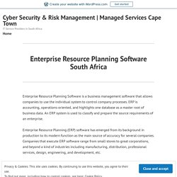 Enterprise Resource Planning Software South Africa