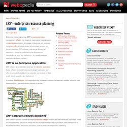 What is ERP - Enterprise Resource Planning? A Webopedia.com Definition