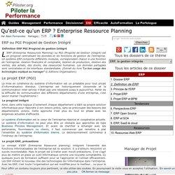 Qu'est-ce qu'un ERP Enterprise Ressource Planning