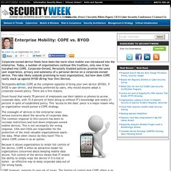 Enterprise Mobility: COPE vs. BYOD