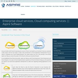 Enterprise cloud services, Cloud computing services