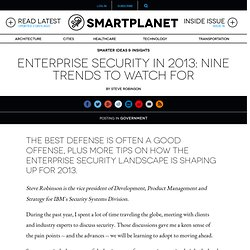 Enterprise security in 2013: Nine trends to watch for