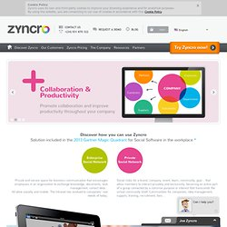Your Enterprise Social Network - Zyncro