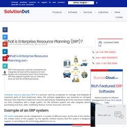 What is Enterprise Resource Planning (ERP)? - SolutionDot