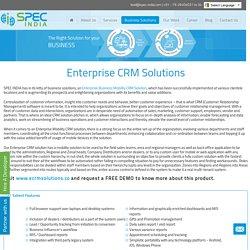 Enterprise CRM Solutions, Business Mobility CRM Services