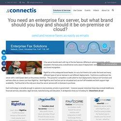 Enterprise Fax Server Solutions