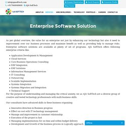 Enterprise Solutions, Enterprise Software Solution
