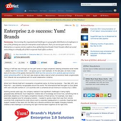 Enterprise 2.0 success: Yum! Brands