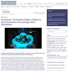 ownCloud 7 Enterprise Edition intègre la synchronisation et le partage dans SharePoint