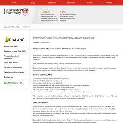 Research and Enterprise Services - Lancaster University - DIALANG - About