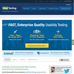 Enterprise Usability Testing for Websites and Apps - UserTesting.com