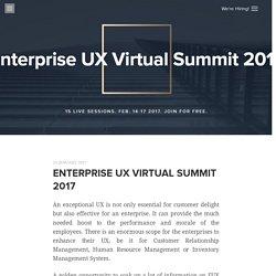 Enterprise UX Virtual Summit 2017
