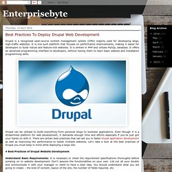 Consider The Good Practices For Deploying Drupal Website