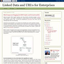 Linked Data and URI:s for Enterprises: Mind maps just begging for RDF triples and formal models