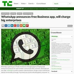 WhatsApp announces free Business app, will charge big enterprises