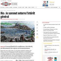 Rio : le sommet enterre l'intérêt général