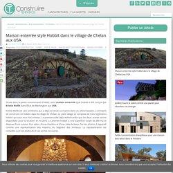 Maison enterrée style Hobbit dans le village de Chelan aux USA