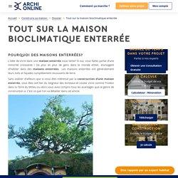 Maisons enterrées bioclimatiques