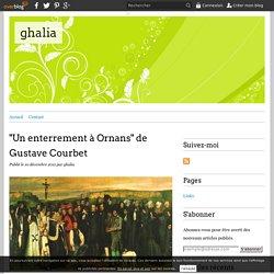 """""""Un enterrement à Ornans"""" de Gustave Courbet - ghalia"""