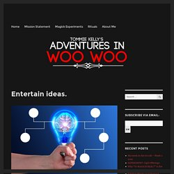 Entertain ideas. – Adventures in Woo Woo