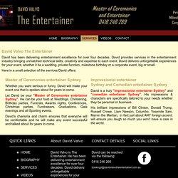 Master of Ceremonies entertainer Sydney