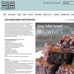 Salted Brownies