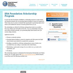 Entertainment Software Association Foundation - Scholarship Program