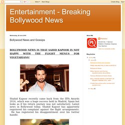 Entertainment - Breaking Bollywood News: Bollywood News and Gossips