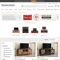 Buy Wooden TV Entertainment Units Online at Best Price