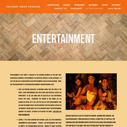 Entertainment — Chicago Luaus Catering