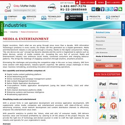 Media And Entertainment Industry Web Development, Community Portal Development - GMI
