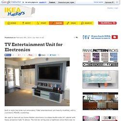 TV Entertainment Unit for Electronics