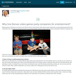 Why hire Denver video games party companies for entertainment? : emmapdavis