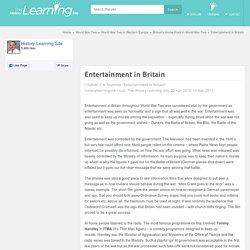 Entertainment in Britain