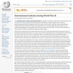 Entertainment industry during World War II
