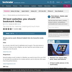 95 best websites you should bookmark today: Best sites for entertainment