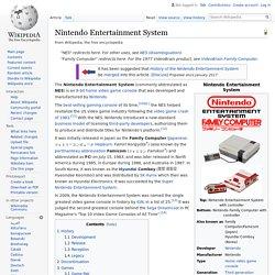 Nintendo Entertainment System:NES (1985)
