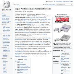 Super Nintendo Entertainment System:SNES (1991)