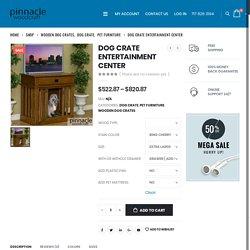 Dog Crate Entertainment Center